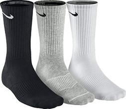 NIKE Unisex Performance Cushion Crew Training Socks , White/