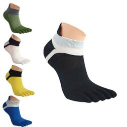 1/5 Pairs Men Mesh Socks Meias Sports Running Five Finger To
