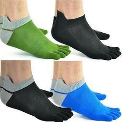 5 Pairs Mens Five Finger Toe Separate Socks Cotton Breathabl