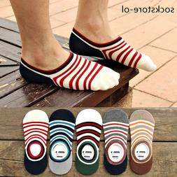 10 Pairs Men Loafer Boat Invisible No Show Nonslip Liner Low