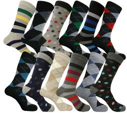 12 PAIR FISRT QUALITY PATTERN FASHION COTTON MULTICOLOR MEN