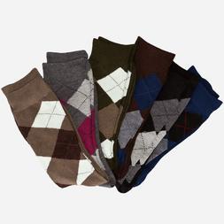12 pairs 1 Dozen Argyle Dress Socks Classic Diamond Pattern