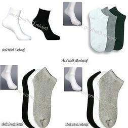 12 Pairs Lot Men Women 9-11 10-13 Crew Ankle Cut Sports Sock
