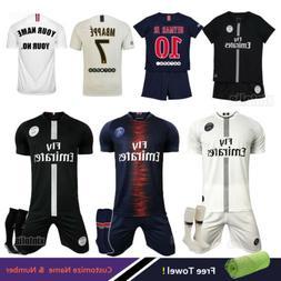 18/19 Football Club Soccer Kit Kids Team Jersey Mens Sports