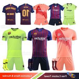 18/19 Football Club Soccer Kit Short Kids Boys Mens Sport Te