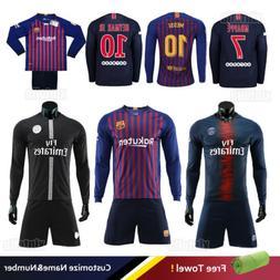18/19 Football Club Soccer Team Kids Mens Sports Long Sleeve