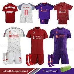 18/19 Football Full Kit Kids Youth Boys Soccer Team Jersey S