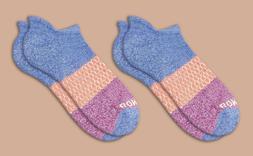 2-Pack Marled-Violet-Magenta Tri-Color Bombas Men's Ankle So