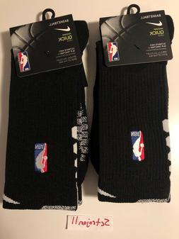 2 Pack of Nike NikeGrip Quick Crew NBA Basketball Socks Size