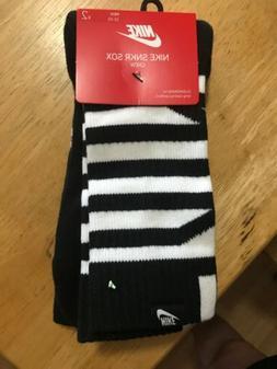 Nike 2 Pack Sneaker Sox Crew Socks Black SX7289 940 Men's