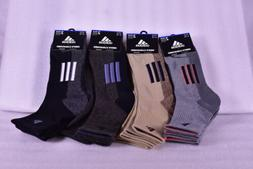 2-Pair Men's Adidas Climalite X II Mid Crew Socks - Choose C