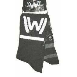 Westworld 2 PAIR Men's Novelty Crew Socks NEW