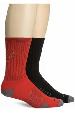2 Pairs New Balance Core Performance Men's Crew Socks Blac