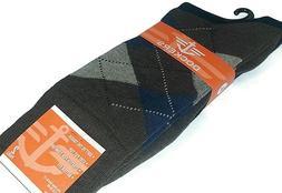 2 PK DOCKERS Men's Argyle Crew Socks Shoe Size 6-12   U1