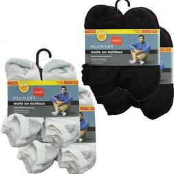 Hanes Premium Men's Socks 24-Pack Cushion No-Show Shoe Size