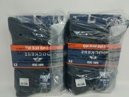 2x Dockers Men's 5 Pack Cushion Comfort Sport Crew Socks Siz