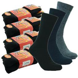 3-12 Pairs Winter Men Acrylic Thermal Work Boots Crew Socks