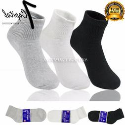 3 6 12 Dozen Pairs Diabetic Mens Womens Ankle Health Circula