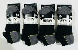 3 6 12 Pairs Mens Black Cotton No Show Quarter Low Cut Socks