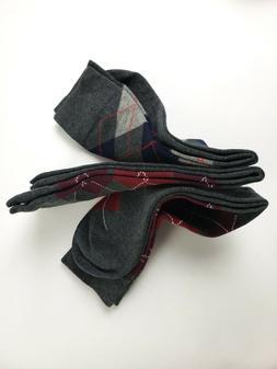 Easton Marlowe 3 Pack Argyle / Charcoal Socks UK 5.5-8 / EU