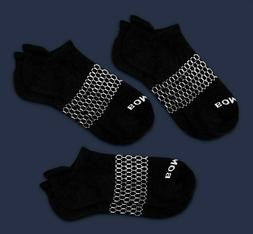 3-Pack Bombas Men's Ankle Socks Black Honeycomb Large 7-12 N
