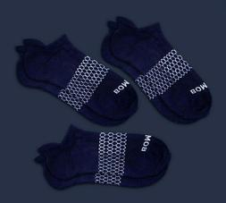3-Pack Bombas Men's Ankle Socks Navy Blue Honeycomb Large 7-