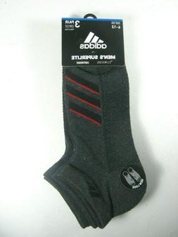 3 Pair Adidas Low Cut Socks Men's Shoe Size 6-12 Gray, Athle