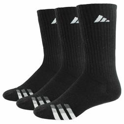 3 Pair Adidas Men's Cushioned Crew Socks Shoe Size 6-12 Vari