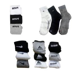 3 Pair Multi Brand Sports Socks Ankle Length Multi Color For