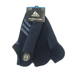 3 Pair Adidas Superlite No Show Socks, Men's Shoe Size 6-12,