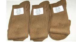 3 Pairs Men US Army Coyote Tan Anti-Fungal Made In USA Boot