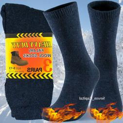 3 Pairs Mens Heavy Duty Winter Warm Thermal Work Cotton Wool