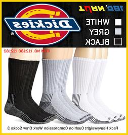 3 Pk. Dickies Mens Arch Compression Crew SOCKS Athletic Cush
