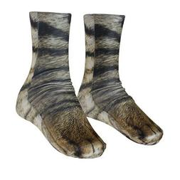3D Animal Printed Paw Crew Socks Womens Mens Funny Novelty F