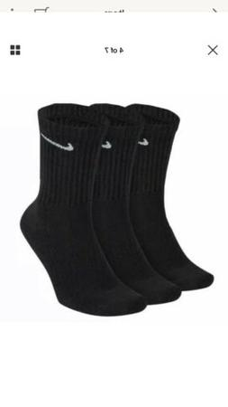 Nike 3Pk Everyday Cushioned Crew Socks LG Black/White Men 8-