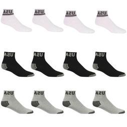 4~12pairs Men Women Athletic Sports Cotton Ankle Low Cut Qua
