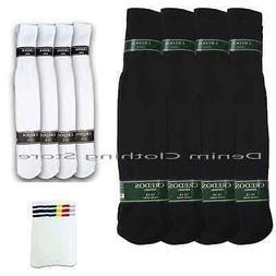 4 8 12 Pairs Athletic Thick socks Calf / Knee High Men's Tub