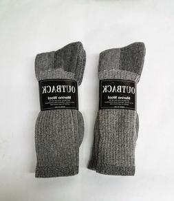 4 Pair Heather Grey Acrylic/MERINO Wool Blend Socks Men's Lg