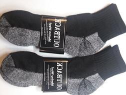 4 Pair Men Women Premium MERINO Wool Blend Quarter Socks Men