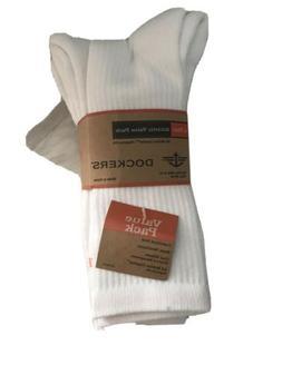 Dockers 4 Pair Men White Socks