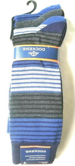 4 pairs Dockers Men's Dress Socks, Large 6-12, Blue / Assort