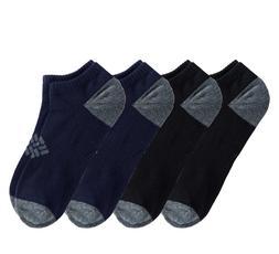 4-pairs Men's Columbia Low Cut Socks Moisture Control Size 6