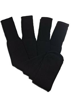 4 Pairs Mens Black Tube Socks Big and Tall Extra Long Thick