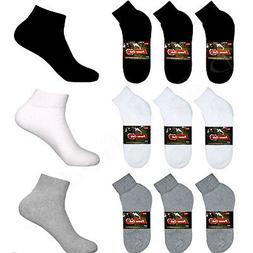 5~100 Dozens Wholesale Lots Men Solid Sports Cotton Ankle Qu