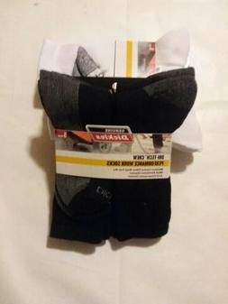 5 Pair Dickies Genuine Crew Work Socks Dri-Tech Mens 6-12 Ex