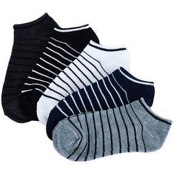 5 Pairs Comfortable Striped <font><b>Men</b></font> Unisex S