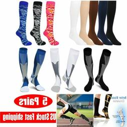 5 pairs copper compression socks 20 30mmhg