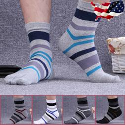 5 pairs Men's Cotton Five Finger Toe Socks Breathable Casual