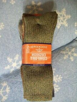 5 Pairs MENS DOCKERS ALL-SEASON CREW SOCKS Cushion Comfort -