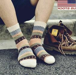 5 Pairs Wool Cashmere Men/Women Cushioned Socks Thicken Warm